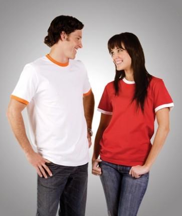 Blue Whale Slim Fit Ringer T-Shirt - Models