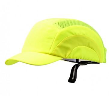 Bump Cap - Short Peak Fluoro Yellow