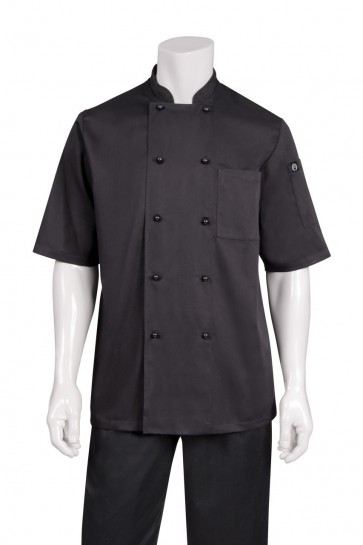 Chef Works Canberra Black Basic Chef Jacket