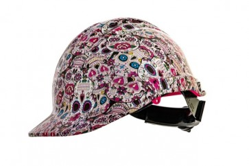 Hydro Dipped Designer Hard Hat - Candy Sugar Skulls