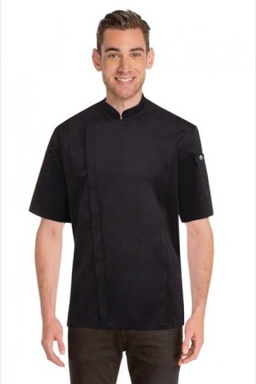 Chef Works Cannes Black Press Stud Chef Jacket
