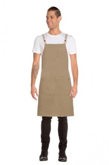 Chef Works Austin Denim Cross Back Apron - Model