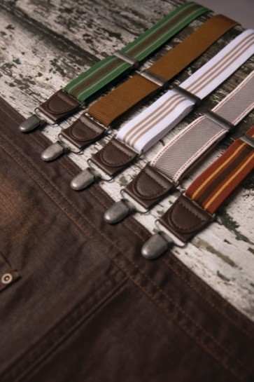 Chef Works Berkeley Striped Apron Suspenders - All Colours