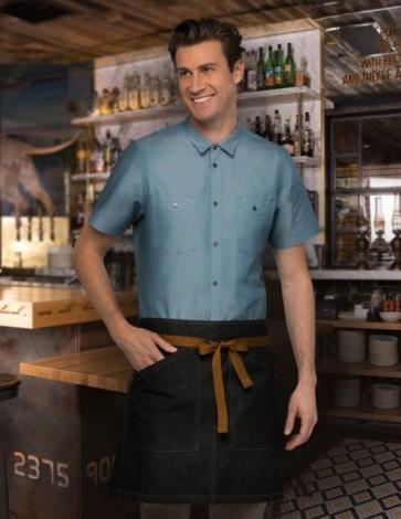Chef Works Berkeley Half Apron - Black Model