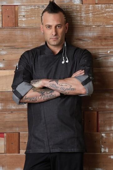 Chef Works Gramercy Mens Denim Zipper Chef Jacket