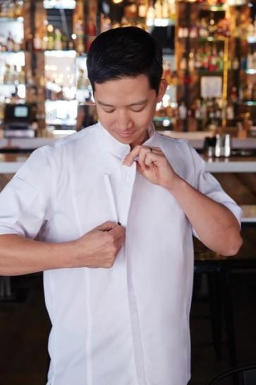 Chef Works Springfield Mens Short Sleeve Zipper Chef Jacket