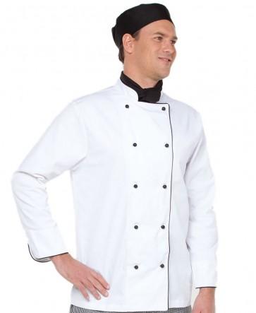JBs wear Chef's Unisex Jacket Long Sleeve - Model White