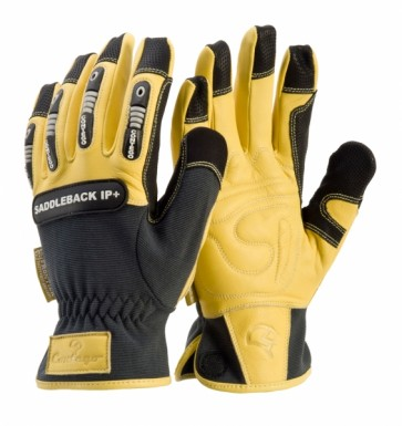 Contego Saddleback Premium Leather Rigger Glove with Impact Protection - Kevlar Stiched
