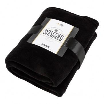 Coral Fleece Blanket - Black