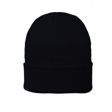 Cuffed Fleece Beanie - Black Only
