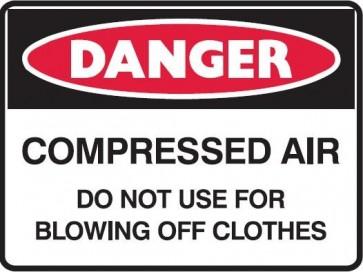 Danger Compressed Air Sign 300 x 225mm Metal