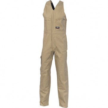 DNC Cotton Drill Action Back Overall - Khaki
