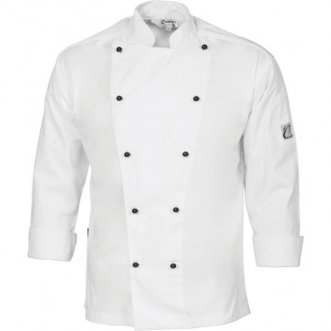 DNC Chefs Cool Breeze Cotton Jacket Unisex - Long Sleeve 190gsm