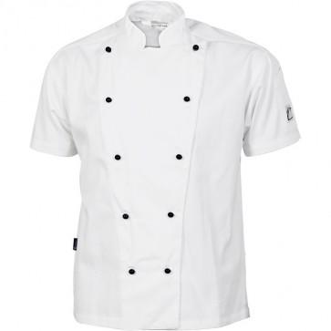 DNC Chefs Cool Breeze Cotton Jacket Unisex - Short Sleeve 190gsm