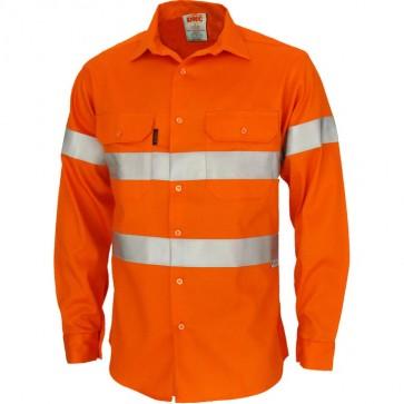 DNC Patron Saint® Hi Vis Flame Retardant ARC Rated Shirt L/S with 3M F/R Tape
