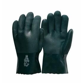 Double Dip Green PVC Gloves 35cm
