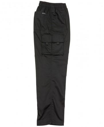 Chef's Elasticated Cargo Pant - Black