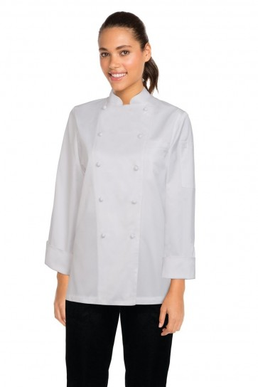 Chef Works Elyse Women's 100% Cotton Chef Jacket