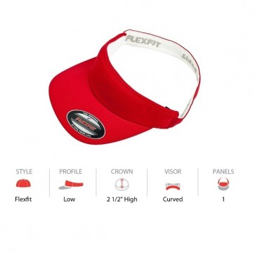 Flexfit Visor - Red Cap Key