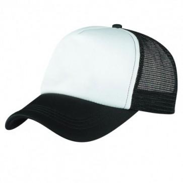 Foam Mesh Trucker Hat - Black White