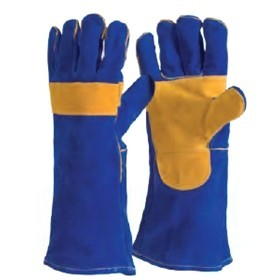 Gauntlet - Blue Welders Reinforced Palm Glove