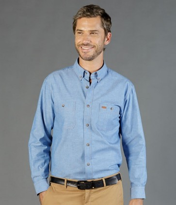Gloweave Iconic Men's Long Sleeve Shirt - Blue Model