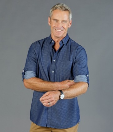 Gloweave Men's Denim Dobby Slim Fit Long Sleeve Shirt