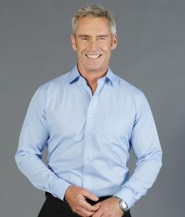 Gloweave Windsor Men's Puppy Tooth Long Sleeve Shirt - Sky Model