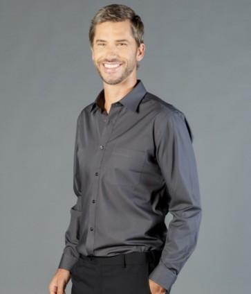 Gloweave Men's Premium Poplin Long Sleeve Shirt - Charcoal