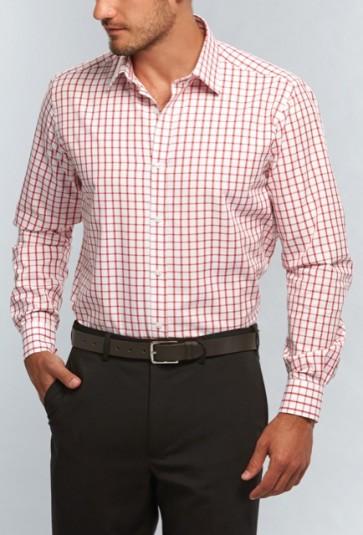 Gloweave Mens Window Pane Check Long Sleeve Shirt