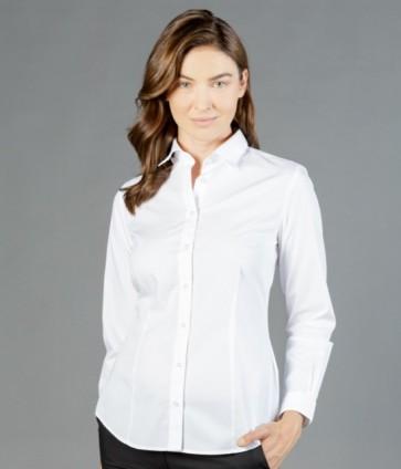 Gloweave Womens Long Sleeve Silk Protein Premium Poplin Shirt