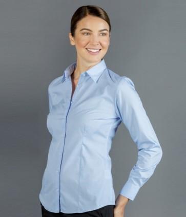 Gloweave Windsor Women's Puppy Tooth Long Sleeve Shirt - Sky Model