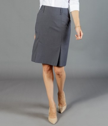 Gloweave Women's Washable Box Pleat Skirt - Charcoal Model