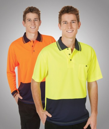 HV Light Weight Cooldry Long Sleeve Polo - Models
