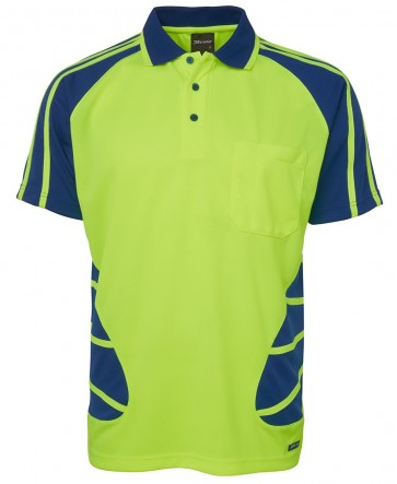 JB's Wear Hi Vis Short Sleeve Spider Polo Shirt