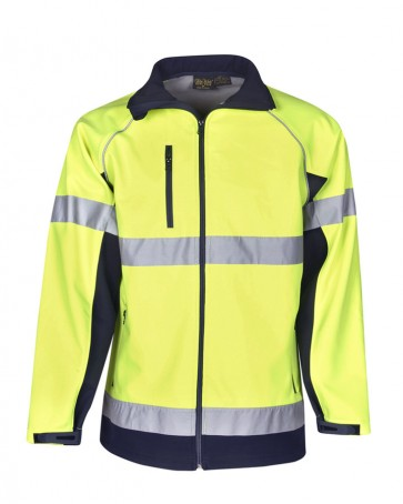Blue Whale Hi Vis Soft Shell Jacket Day Night 300gsm