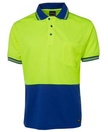 JB's Wear Hi Vis Short Sleeve Traditional Polo Shirt
