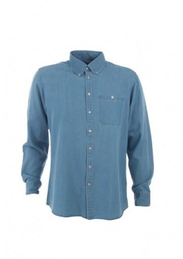 Identitee Mens Dylan Long Sleeve Shirt - Vintage Blue
