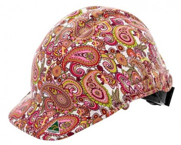 Hydro Dipped Designer Hard Hat - Paisley