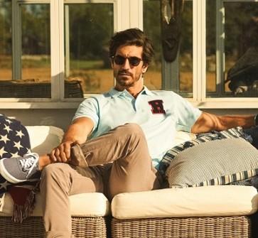 James Harvest Mens Sunset Polo Shirt - Model
