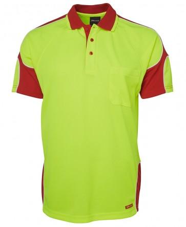 JB's Wear Hi Vis Short Sleeve Arm Panel Polo Shirt