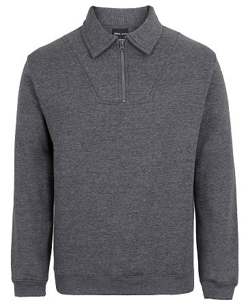 JBs wear 1/2 Zip Fleecy Sweat - Charcoal Marle