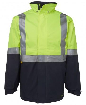 JB's Wear Hi Vis Day Night All Terrain Jacket - Lime Navy Front