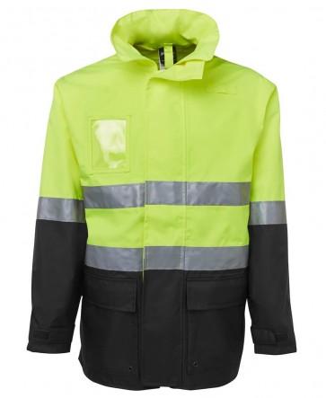 JB's wear Hi Vis Day Night Long Line Jacket - Lime Black