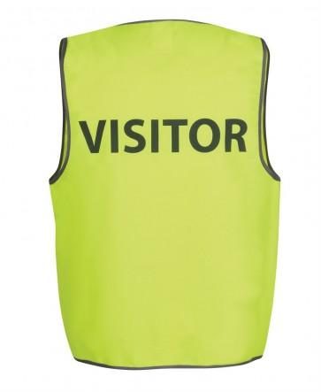 JBs Wear Hi Vis Vest VISITOR - LIME