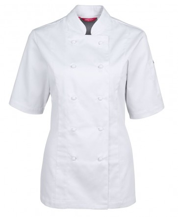 JB's wear Ladies Chef Jacket Short Sleeve Vented - Front