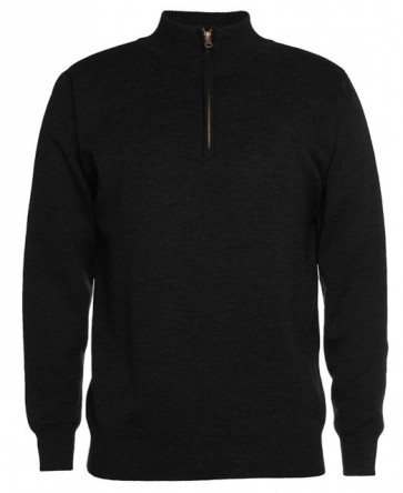 JBs wear Men's Corporate 1/2 Zip Jumper - Black