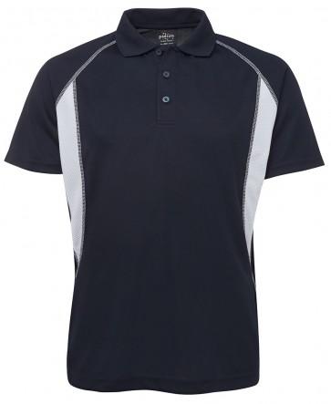 JB's wear Insert Poly Polo - Black Grey