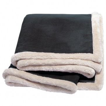 Kanata Faux Leather Throw - Arctic