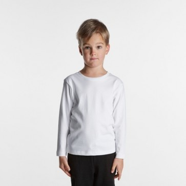 AS Colour Kids Long Sleeve Tee - White Model Front